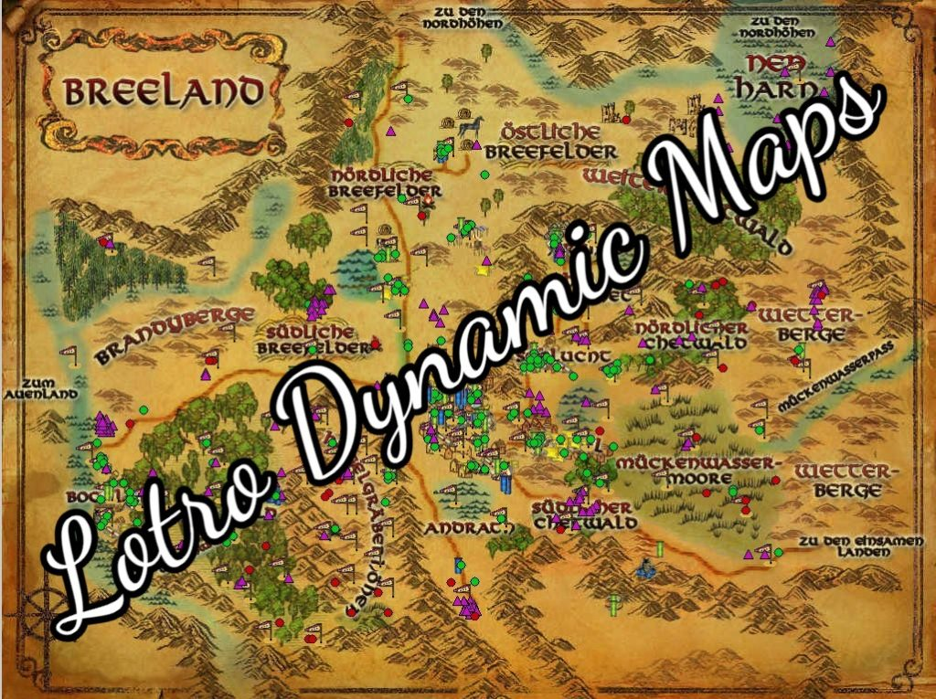 Lord of the Rings Online Dynamic Maps